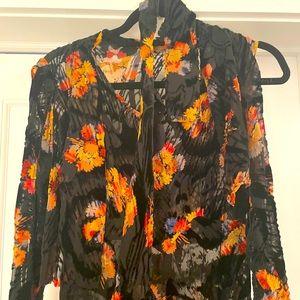 Maxi Vintage Velvet Dress with belt and shawl